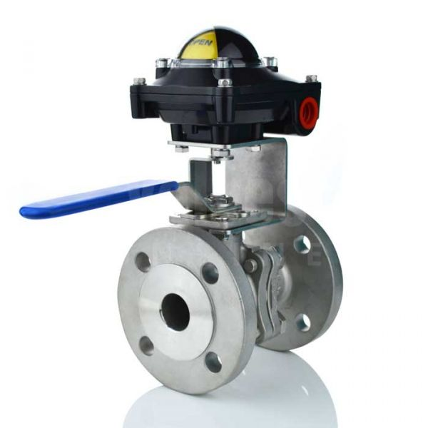 Flanged ANSI 150 Manual Ball Valve with Limit Switchbox