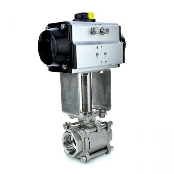 Pneumatic Actuated Economy 3 Piece Ball Valve for Steam
