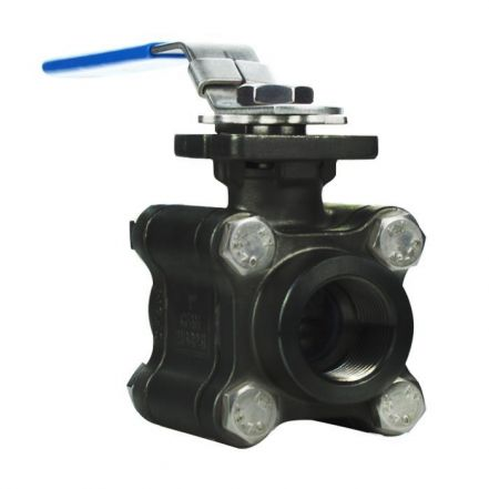 3 Piece Heavy Duty Carbon Steel Ball Valve for High Temperature