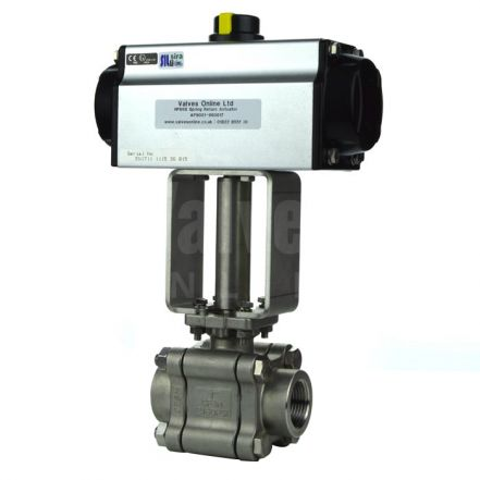 Air Operated Steam Duty Screwed Ball Valve