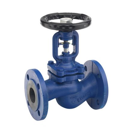 Economy Cast Iron Globe Valve Bellows Sealed Flanged PN16
