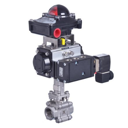 Pneumatic Actuated High Temperature Screwed Ball Valve