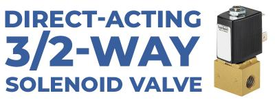 Direct-acting 3/2-way Solenoid Valve