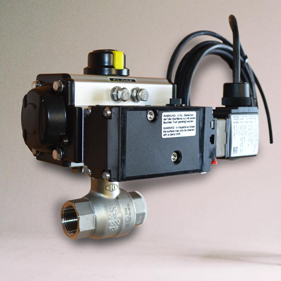 ATEX Pneumatic Actuated ball valve